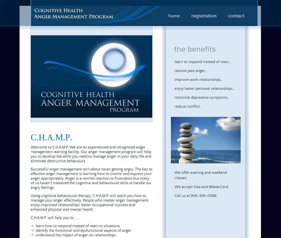 Coginitive Health Anger Management Program Website